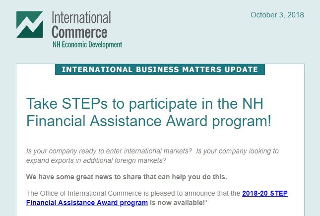 NH STEP announcement 2018