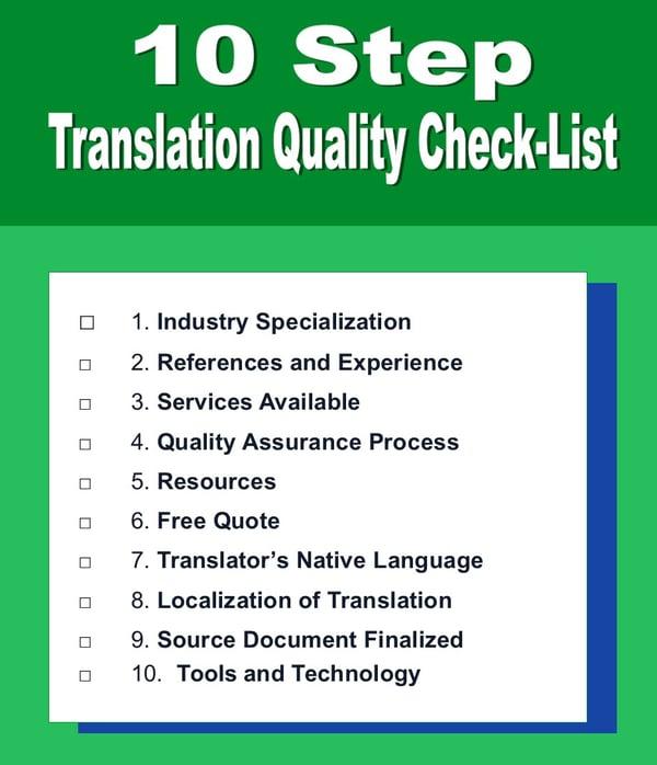 translation quality checklist